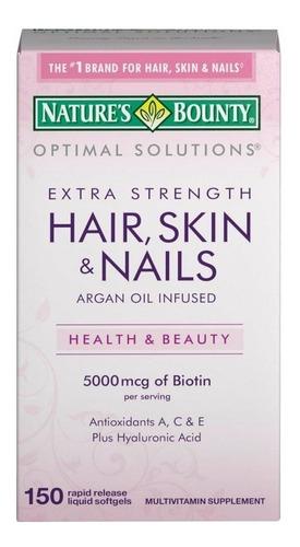Vitaminas Hair Skin And Nails 5000mcg Cabello Piel Y Uñas