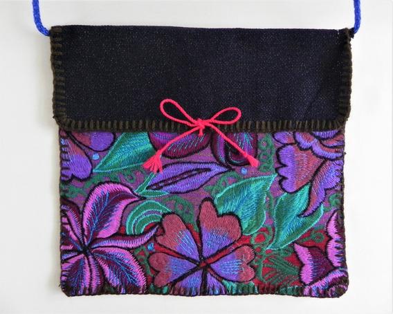 Bolsa En Bordado De Flores Artesanal Chiapaneco, Artes #8