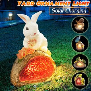 Luces De Carga Solar Jardín Patio Casa Conejo Adorno Animal