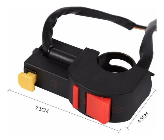 Interruptor Pulsar Guidão On Partida Univesal Moto Cg Fan150