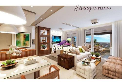 Apartamento Com 2 Dormitórios À Venda, 206 M² Por R$ 1.385.108,97 - Jardim Aquarius - São José Dos Campos/sp - Ap12840
