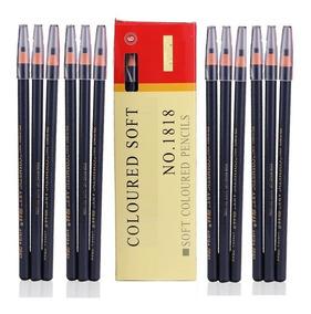 12 Lápis Dermatográfico Preto Micropigmentação