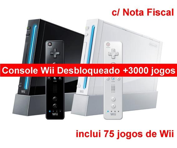 Console Nintendo Wii | Desbloqueado Com Jogos + Nota Fiscal