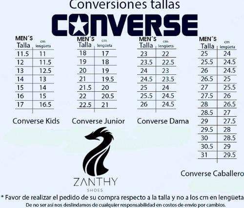 Dormido Huérfano Complacer  Converse Original Tallas 2 Al 9 | Mercado Libre