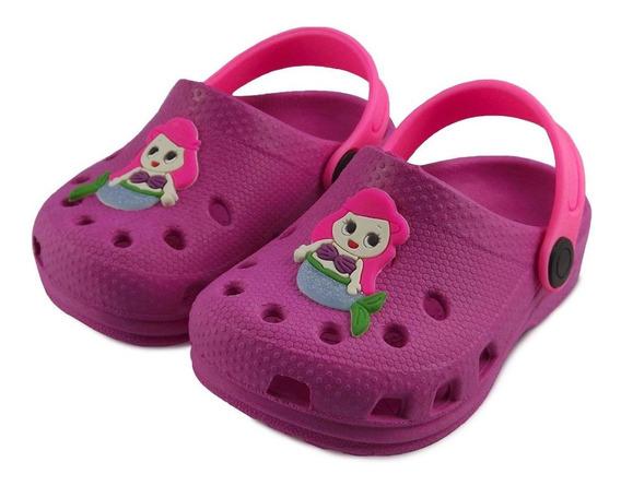Babuche Infantil Feminina Menina Pink Sereia Pequena