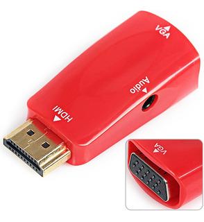 Adaptador Hdmi Macho A Vga Y Audio, Con Cable De 3,5 Mm
