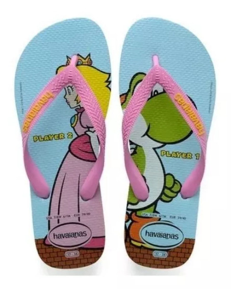 Sandália Havaianas Super Mario Bros Princesa Peachoriginal