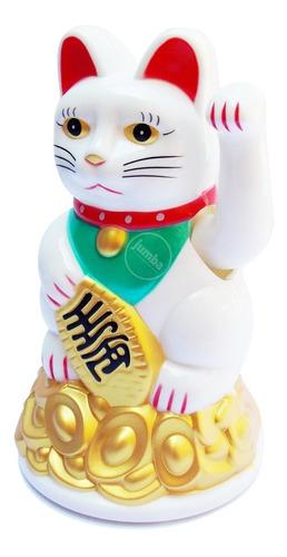 Gato De La Fortuna Maneki Neko 11.5 Cm 1 Pila Aa Incluida