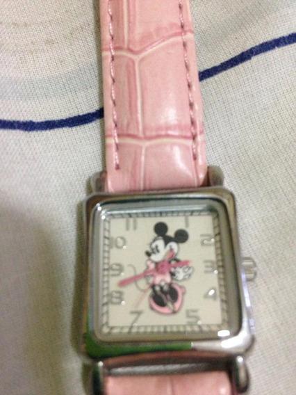 = Relogio De Pulso Feminino Miney Disney Parks Original Caix