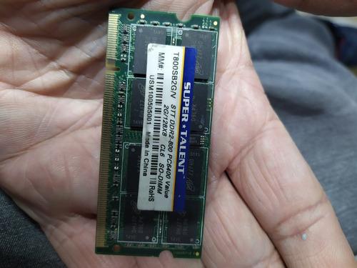 Imagem 1 de 1 de Memoria 2gigas Para Noteboos Dd2  -  2gigas /800 Testada