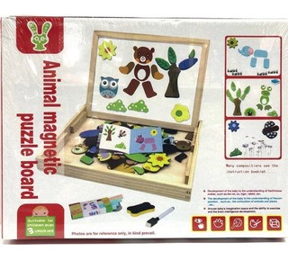 Pizarra Magnetica Puzzle Animales Lalo Toys