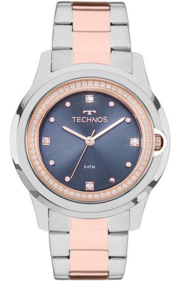 Relógio Technos Feminino Crystal Elegance 2035mli/5a Rose