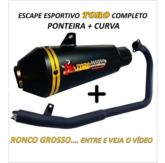 Escape Cb 300r Toro T1 - Black/dourado
