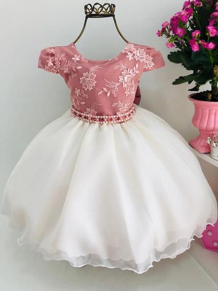 Vestido Infantil Luxo Princesa Aniversário Casamento