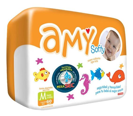 Pañales Desechables Amy Softy Talla M Por Bulto