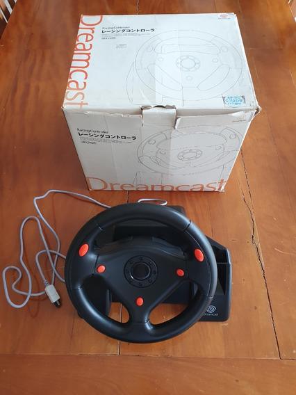 Racing Controller Volante Sega Dreamcast Com Caixa Baixeiiii