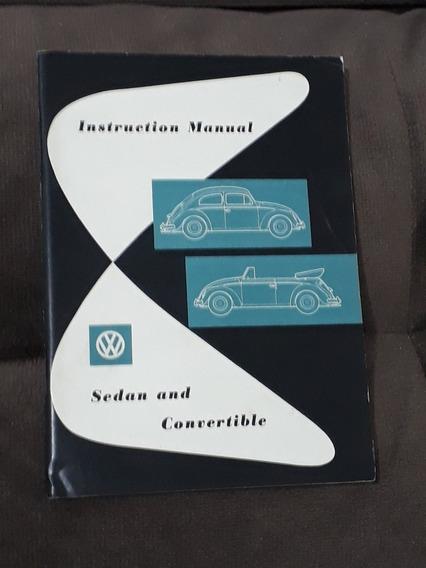 Raro Manual Do Proprietário Original Do Vw Fusca Alemão 1958