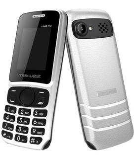 Teléfono Celular Maxwest Uno M2 Flash Doble Sim Blanco D15