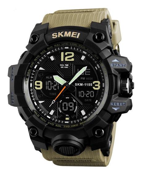 Relógio Masculino Esportivo Estilo Militar Skmei 1155 Original Barato Resistente A Shock Resistente A Água Até 50 Mts Pm