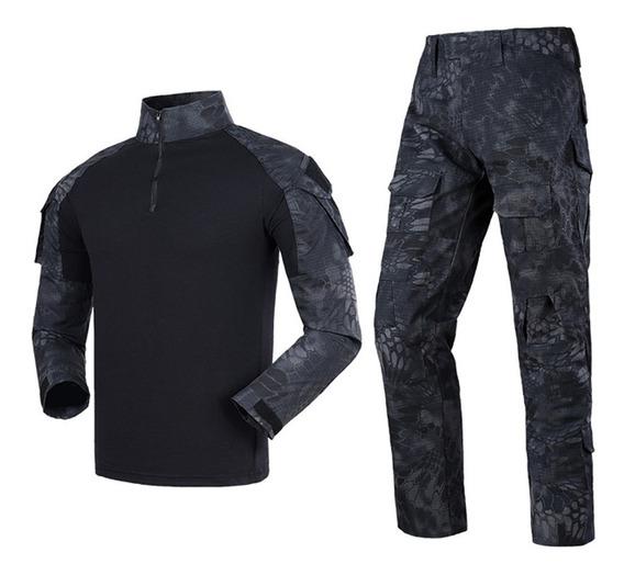 Conjunto Combat Shirt Calça Camuflado Militar Python Avb Bp