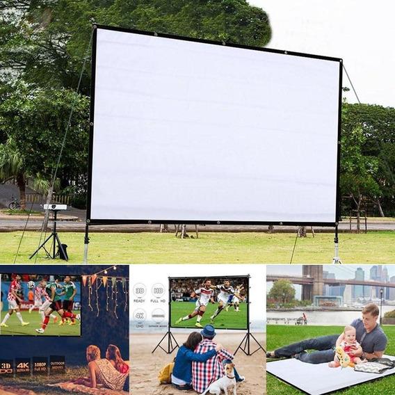 Tela De Projeção Projetor Data 60 Polegadas Cinema Em Casa