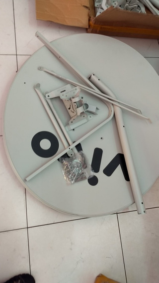 1 Antena Ku 90 Cm+1 Lnb Duplo+ 2 Kit Cabo Somente Retirada