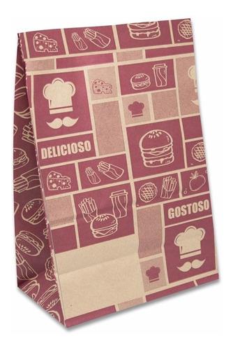 Saco Papel Kraft  Para Delivery 25x40x14 200 Un Fast Food