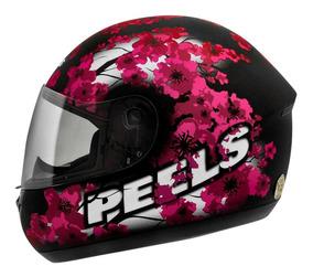 Capacete Moto Peels Spike Blossom Feminino Fosco E Magenta