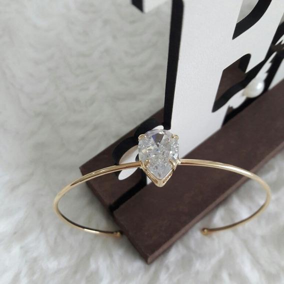 Pulseira Feminina Dourada Bracelete Banhada Ouro 18 Semijoia