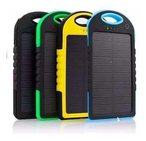 Power Bank Solar, Incluye Cable Para Smartphone Y iPhone