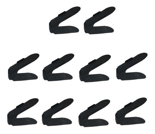 Organizador Sapatos Rack Preto Regulagem Altura 10 Peças