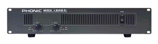 Potencia Amplificador Phonic Max1500 Plus 900w Rms La Roca - Cuotas