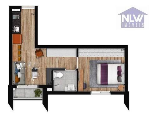 Imagem 1 de 23 de Apartamento Com 1 Dormitório À Venda, 34 M² Por R$ 480.000,00 - Brooklin - São Paulo/sp - Ap3261