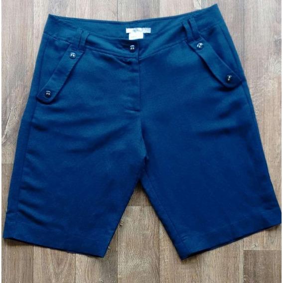 Bermuda Linho Seiki 260193 - Azul - Delabela Calçados