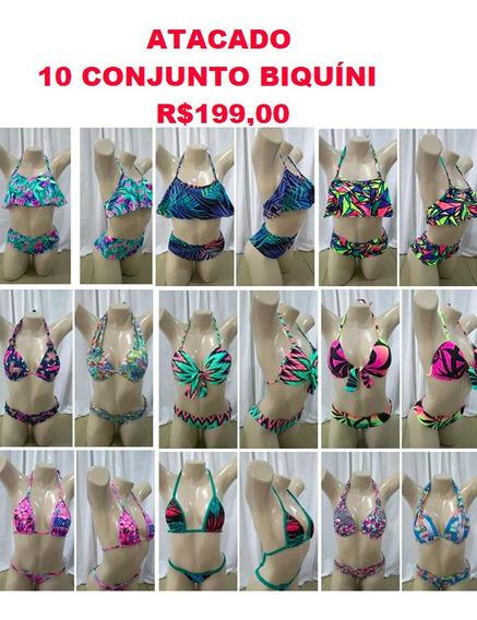 10 Biquíni Com Calcinha Cropped Panicat Atacado Bikini