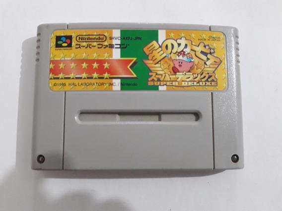 Snes Kirby Super Deluxe Japonês Funcionando 100% #1060