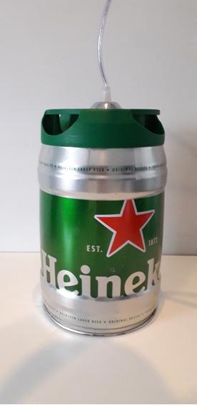 Luminária Pendente Barril De Chop Heineken 1 Luz E27 Prime