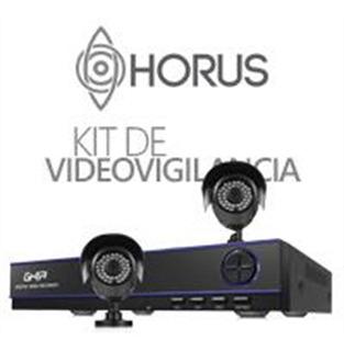 Ghia Kit De Vigilancia De 2 Cámaras Y 4 Canales Con Gdv-001