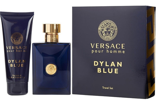 Set Versace Dylan Blue Perfume 100ml + Gel De Baño 100ml.