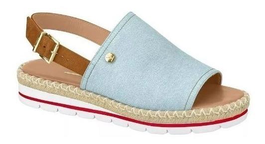 Sandália Avarca Flatform Vizzano 6388100 Jeans Original