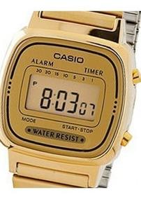 Relógio Casio Feminino Retro La670w-9df Vintage De Vitrine