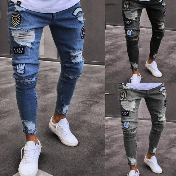 Pantalon Negro Rasgado Hombre Mercadolibre Com Mx