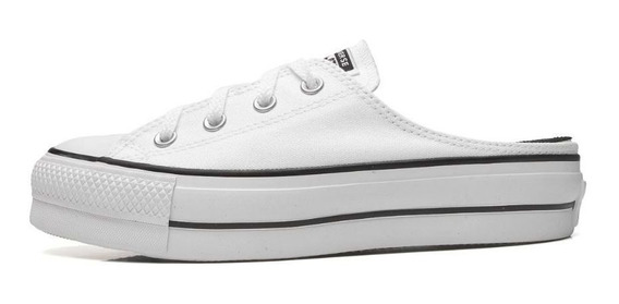 Tênis All Star Mule Flat Branco Ct12100005 Original C/nf