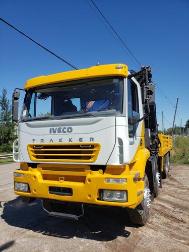 Camion Iveco Trakker 8x4 Con Hidrogrua Pm 35026. 35 Tm.