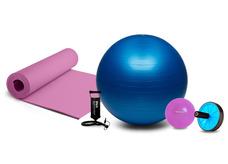 7e487c22bfcfb Bola Suíça Para Pilates 65cm Transparente Liveup Exercicios. 11. 4 cores.  Kit Funcional Roda Exercício + Bola Yoga Pilates + Colchonet