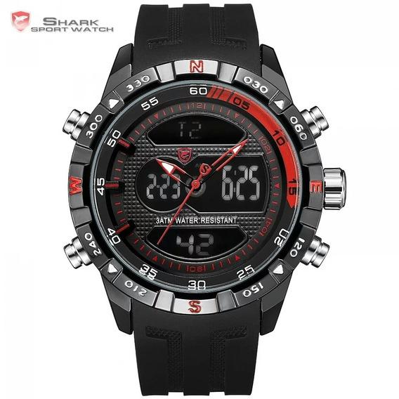 Relógio Masculino Shark Hooktooth Sh598 Completo