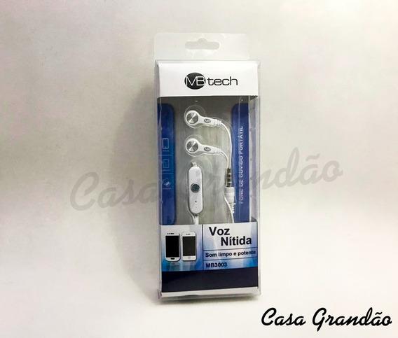 Kit Com 10: Fone De Ouvido Mb-tech Com Microfone