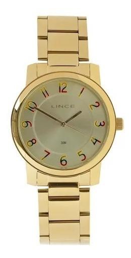 Relógio Lince Feminino Lrg4337l C2kx Dourado Original Lindo