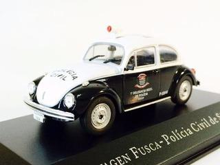Miniatura De Vw Fusca Polícia Civil De São Paulo 1:43 Ixo