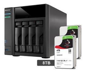 Servidor Nas Storage Asustor 8tb Ironwof As6104t8000 Dual